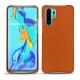 Coque cuir Huawei P30 Pro - Orange vibrant