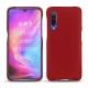 Coque cuir Xiaomi Mi 9 - Rouge ( Nappa - Pantone 199C )