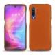 Xiaomi Mi 9 leather cover - Orange vibrant