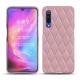 Coque cuir Xiaomi Mi 9 - Rose - Couture ( Nappa - Pantone 2365C )