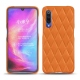 Xiaomi Mi 9 leather cover - Orange - Couture ( Nappa - Pantone 1495U )