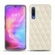Coque cuir Xiaomi Mi 9 - Blanc escumo - Couture