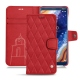 Housse cuir Nokia 9 PureView - Rouge troupelenc - Couture