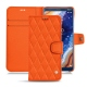Housse cuir Nokia 9 PureView - Orange fluo - Couture