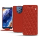 Nokia 9 PureView leather case - Papaye - Couture ( Pantone 180C )