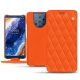 가죽 커버 Nokia 9 PureView - Orange fluo - Couture
