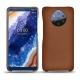 Custodia in pelle Nokia 9 PureView - Marron ( Nappa - Pantone 1615C )