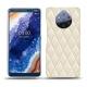 Custodia in pelle Nokia 9 PureView - Blanc - Couture ( Bologna - White )