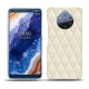 Nokia 9 PureView leather cover - Blanc - Couture ( Bologna - White )
