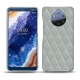 Nokia 9 PureView leather cover - Gris - Couture ( Nappa - Pantone W428C )