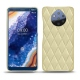 レザーケース Nokia 9 PureView - Beige - Couture ( Nappa - Pantone 7502C )