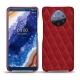 가죽 커버 Nokia 9 PureView - Rouge - Couture ( Nappa - Pantone 199C )
