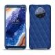 Custodia in pelle Nokia 9 PureView - Bleu océan - Couture ( Nappa - Pantone 293C )
