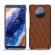 Nokia 9 PureView leather cover - Marron - Couture ( Nappa - Pantone 1615C )