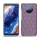 Nokia 9 PureView leather cover - Lilas - Couture ( Nappa - Pantone 2645U )