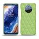 가죽 커버 Nokia 9 PureView - Vert olive - Couture ( Nappa - Pantone 578U )