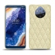 Nokia 9 PureView leather cover - Ivoire - Couture ( Sleek P C12 - White )