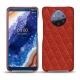 Custodia in pelle Nokia 9 PureView - Papaye - Couture ( Pantone 180C )