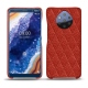 Nokia 9 PureView leather cover - Papaye - Couture ( Pantone 180C )