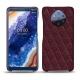 Custodia in pelle Nokia 9 PureView - Lie de vin - Couture ( Pantone 5115C )