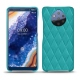 Nokia 9 PureView leather cover - Bleu fluo - Couture