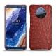 Custodia in pelle Nokia 9 PureView - Autruche ciliegia
