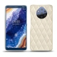 Nokia 9 PureView leather cover - Blanc escumo - Couture