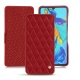 Funda de piel HuaweiP30 - Rouge - Couture ( Nappa - Pantone 199C )