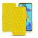 Housse cuir HuaweiP30 - Jaune fluo - Couture