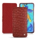 Huawei P30 leather case - Autruche ciliegia