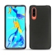 Huawei P30 leather cover - Noir ( Nappa - Black )
