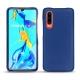 Huawei P30 leather cover - Bleu océan ( Nappa - Pantone 293C )
