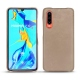 Huawei P30 leather cover - Taupe vintage ( Pantone 7530C )
