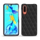 Huawei P30 leather cover - Noir - Couture ( Nappa - Black )