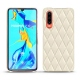 Huawei P30 leather cover - Blanc - Couture ( Bologna - White )