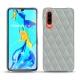 가죽 커버 Huawei P30 - Gris - Couture ( Nappa - Pantone W428C )