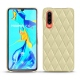 Huawei P30 leather cover - Beige - Couture ( Nappa - Pantone 7502C )