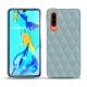가죽 커버 Huawei P30 - Bleu ciel - Couture ( Nappa - Pantone 277C )