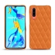 Coque cuir Huawei P30 - Orange - Couture ( Nappa - Pantone 1495U )