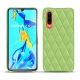 Huawei P30 leather cover - Vert olive - Couture ( Nappa - Pantone 578U )