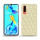 Huawei P30 leather cover - Ivoire - Couture ( Sleek P C12 - White )