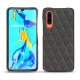 Huawei P30 leather cover - Anthracite - Couture ( Pantone 424C )