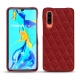 Huawei P30 leather cover - Tomate - Couture ( Pantone 187C )