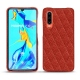 Huawei P30 leather cover - Papaye - Couture ( Pantone 180C )