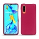 Huawei P30 leather cover - Rose fluo