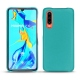 Huawei P30 leather cover - Bleu fluo