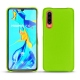 Huawei P30 leather cover - Vert fluo