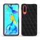 Huawei P30 leather cover - Negre poudro - Couture