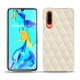 Huawei P30 leather cover - Blanc escumo - Couture