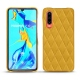 Huawei P30 leather cover - Jaune soulèu - Couture